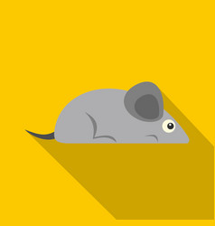 Gray mouse icon flat style vector