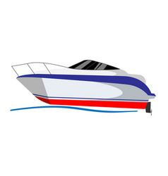 grey speed boat water sport vector image