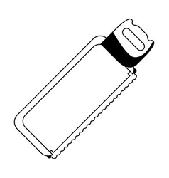 Hack saw icon cartoon isolated in black and white vector