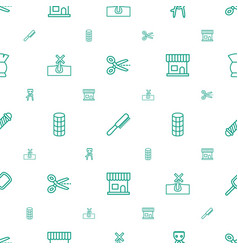 Hair icons pattern seamless white background vector