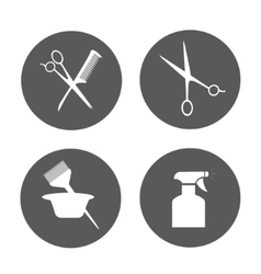 Hairdressing equipment icons vector image