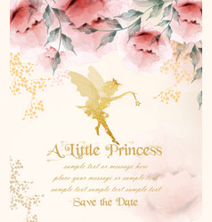 Happy birthday princess card delicate vector