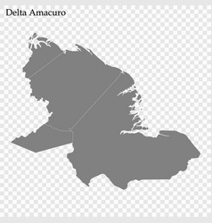 High quality map a state venezuela vector