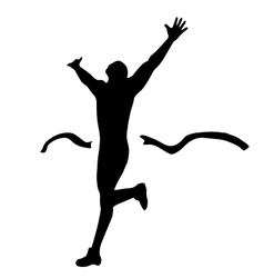 Hiqh quality male runner on finish vector