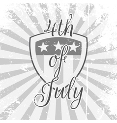 Independence Day 4th of July festive Shield vector image