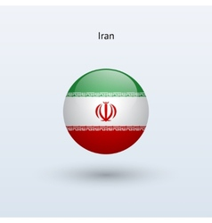 Iran round flag vector