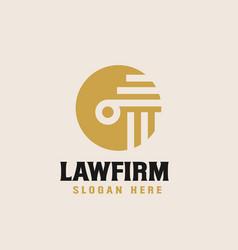 Law firm logo design template vector