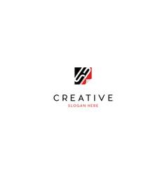 letter sb paper creative business logo design vector image