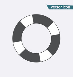 lifebuoy icon flat lifebelt symbol isolate vector image