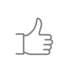 like thumb up line icon approve gesture best vector image