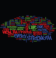 live for good health text background word cloud vector image