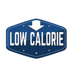 Low calorie label or sticker vector