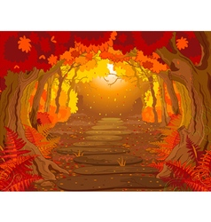 Magic forest vector