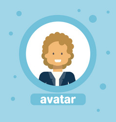male face avatar business man profile icon element vector image