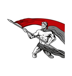 Man Carrying Flag vector