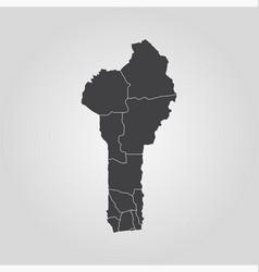 map republic benin vector image