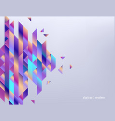 Modern gradient banner with abstract geometric vector