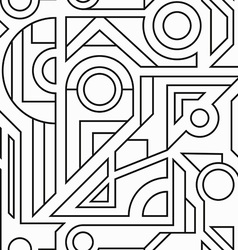 monochrome geometric seamless texture vector image