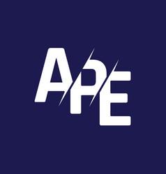 Monogram letters initial logo design ape vector