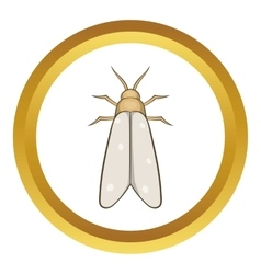 Moth icon vector