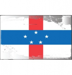 Netherlands Antilles flag vector image