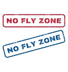 No Fly Zone Rubber Stamps vector