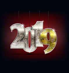 number year shine design vector image