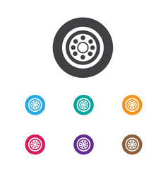 Of vehicle symbol on wheel vector