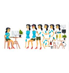 Office worker woman modern employee vector