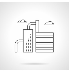Oil industry plant flat line icon vector