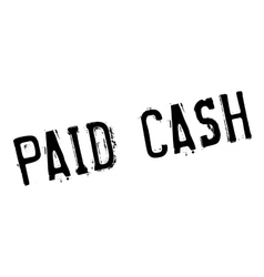 Paid Cash rubber stamp vector