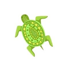 Painted Turtle Hawaiian Vacation Classic Symbol vector image