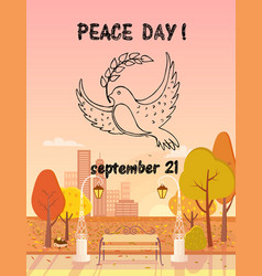 Peace day september 21 autumn vector