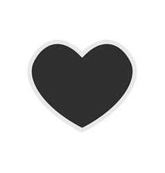 photo frame heart shaped vector image