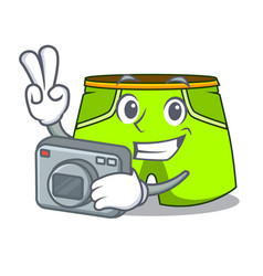 Photographer cartoon shorts style for the swimming vector