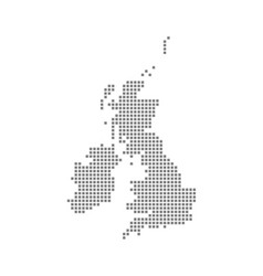Pixel map of united kingdom dotted map of united vector