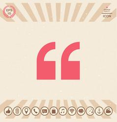 quote symbol icon vector image