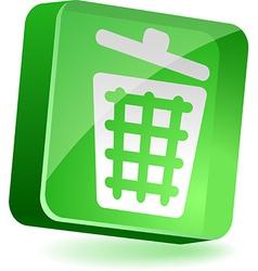Recycle bin Icon vector image