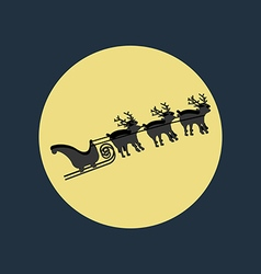 Santa Claus sleigh deer vector image