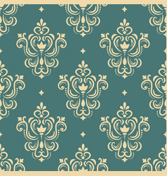 Seamless ornament in damascus style vector