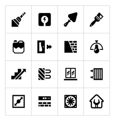 Set icons of repair and building vector image