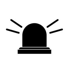 Silhouette siren emergency alert warm vector