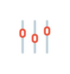 Sound mixer icon slider channel vector