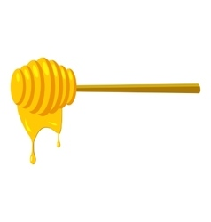 Stick for honey icon cartoon style vector