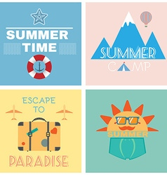 Summer Time Recreation Banner vector image