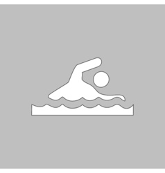 Swimming computer symbol vector
