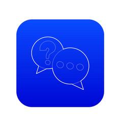 talk icon blue vector image