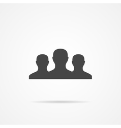 Team flat icon on the grey background vector