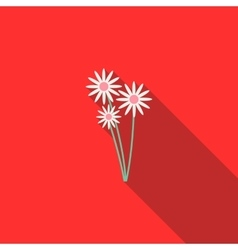 Three daisies icon flat style vector