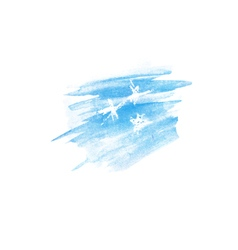 watercolor stain with stars vector image